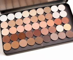 Here's a quick look at swatches of the current, permanent neutral shades of MAC Eyeshadows ($6.00 for 0.05 oz. pans) -- hopefully this helps some of you wh