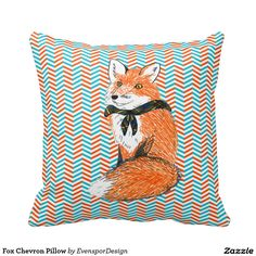 Fox Chevron Pillow
