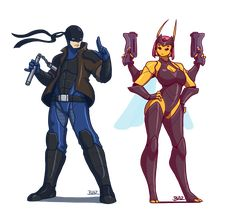 Dragon and Stinger by Blazbaros on DeviantArt Alien Character, Character Drawing, Character Illustration, Comic Character, Character Concept, Character Ideas, Superhero Characters, Comic Book Characters, Female Characters