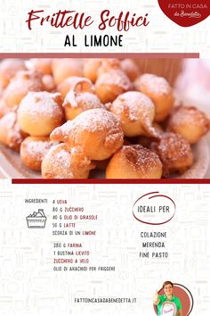 Biscotti, Breakfast Recipes, Dessert Recipes, Desserts, Confort Food, Beignets, No Bake Cookies, Food Videos, Italian Recipes
