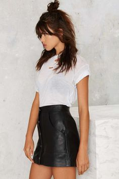 Nasty Gal Ladyland Leather Skirt - Clothes | Pencil | Skirts