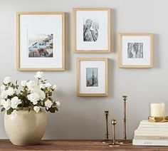 Porcelain Blue Paper Print #1   Pottery Barn Mirrored Picture Frames, Hanging Picture Frames, White Picture Frames, Hanging Pictures, Picture Wall, Gallery Wall Frames, Gallery Walls, Found Art, Baskets On Wall