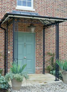 Iron porch canopy