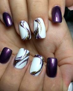 90 cute summer nail design ideas - best summer nails of 2018 - . - 90 cute summer nail design ideas – best summer nails of 2018 – - Fancy Nails, Trendy Nails, Pink Nails, Toe Nails, Black Nails, Dark Purple Nails, Stiletto Nails, White Nails, Purple Nail Art