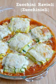 {Zucchinioli} Zucchini Ravioli with Spinach Ricotta Filling