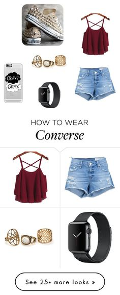 """converse with studs . WOW !"" by martapodesta on Polyvore featuring Converse, rag & bone/JEAN and Casetify"