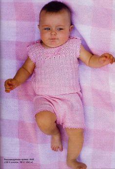 Костюмчик для малыша от 3 до 6 месяцев-ОПИСАНИЕ!