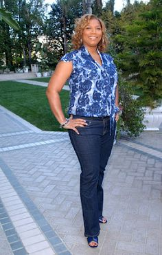 Modest plus-size fashion - Queen Latifah (LOVE this outfit)