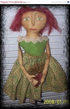 On Sale Primitive Irish Rose by Rabbithollowprims on Etsy, $31.46