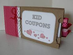 Small Fry & Co. : Valentines Coupon Books for Kids from Mom Small Paper Bags, Coupon Books, Coupon Design, Coupons, Christmas Crafts, Valentines, Mom, Kids, Valentine's Day Diy