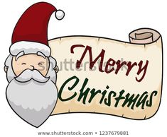 Happy Santa Claus with a greeting scroll, wishing you a merry Christmas. Christmas Illustration, Wish, Merry Christmas, Santa, Happy, Illustrations, Merry Little Christmas, Wish You Merry Christmas, Ser Feliz