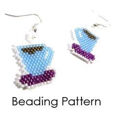 Beading Pattern: Coffee Cup Earrings | www.MegansbeadedDesigns.com