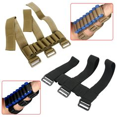 New Arrival Tactical Military Hunting 8 Rounds Ammo Shotgun Shell Holder Forearm Carrier Shooter Sleeve Mag Pouch