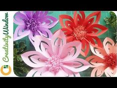 These DIY Paper Flowers are Easy - YouTube