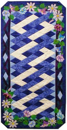 September Morning Glories & Asters Table Runner Pattern MGD-907e (instant download)