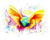 Angel - 46 x 58 cm   Original available on Etsy: https://www.etsy.com/de/shop/ArtByButtafly  Print available on Wall-Art: https://www.wall-art.de/index.php?cl=search&listtype=search&actcontrol=search&searchparam=buttafly+&kuenstler%5B%5D=Buttafly&bewertung=