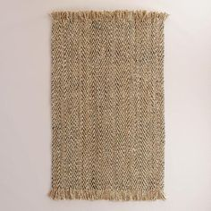 One of my favorite discoveries at WorldMarket.com: Charcoal Herringbone Woven Jute Area Rug