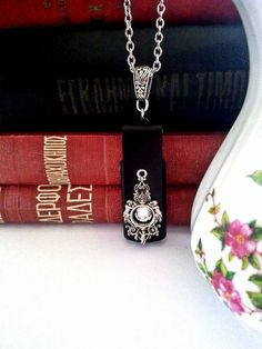 Gothic Pendant USB Pendant USB Necklace Flash by ApplebiteJewelry