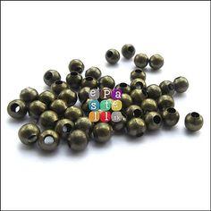 (0172) Kovové korálky, 4 mm - 10 ks