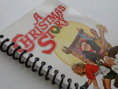 VHS Notebook, 3.75 X 7.25, 50 pages, A Christmas Story, Unlined Journal, VHS Book, Christmas Traditions, Pink Rabbit Suit, Spiral Notebook
