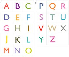 Free Printable Alphabet Cards | Color    2 sets of free PDF with 26 printable alphabet cards in upper case and lower case, colored or black & white.