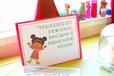 Daniel Tiger food station - make large sign for food table Third Birthday, 3rd Birthday Parties, Baby Birthday, Birthday Ideas, Daniel Tiger Party, Daniel Tiger Birthday, Kids Party Themes, Party Ideas, Party Time