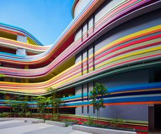 This crazy Singapore school looks like it's made from rainbow lollipops Nanyang Primary School by 505 and LT&T – Inhabitat - Green Design, Innovation, Architecture, Green Building Singapore Architecture, Colour Architecture, Australian Architecture, Facade Architecture, Amazing Architecture, Minimalist Architecture, Kindergarten Architecture, Kindergarten Design, School Building Design