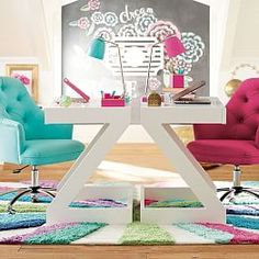 I got this desk and it's absolutely amazing!!! I even built it myself - it's that easy :)   All New Arrivals - Teen Furniture + Bedding + Decor | PBteen