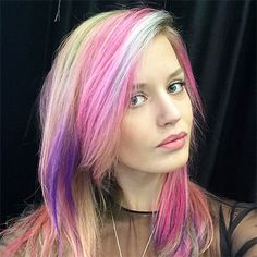 Georgia May Jagger debuts epic rainbow hair on Instagram—and totally pulls it off.