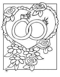 Wedding themed coloring pages that are free to print. I like the ...