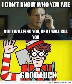 No one can find Waldo, no one! - http://www.videogamesmeme.com/memes/no-one-can-find-waldo-no-one/