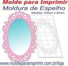 Molde Para Imprimir De Espelho Provencal Manualidades