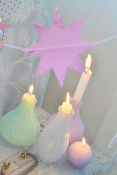 Pastel candles