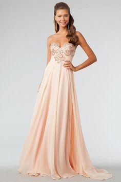 2014 Prom Dresses A-Line Sweetheart Sweep/Brush Chiffon Sleeveless Zipper Back