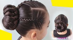 Colorin TV Cute Girls Hairstyles, Kids Braided Hairstyles, Hairstyles For School, Bun Hairstyles, Girl Hair Dos, Baby Girl Hair, Gymnastics Hair, Hair Removal Remedies, Toddler Hair