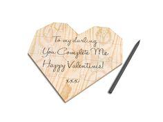 Wooden Heart Jigsaw Puzzle   Grey from notonthehighstreet.com