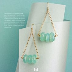 """Betty earrings turtorial - """"The Earring Style Book"""" by Stephanie A. Wells"""