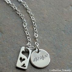 Custom Personalized The Journey Hand Stamped by labellajewelsltd, $35.00