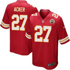 Men's Nike Kansas City Chiefs #27 Kenneth Acker Game Red Team Color NFL Jersey
