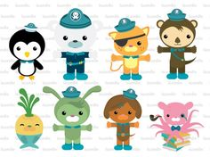 Octonauts Digital Clipart