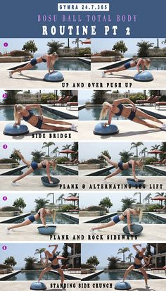 Bosu Total Body Routine. Click to watch. Get yourself in the best shape of your life with  www.gymra.com.
