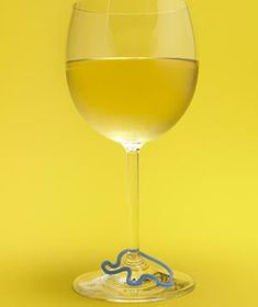 Use a silly band as a wine charm so your guests can identify whose glass is whose!! Awesome Idea!