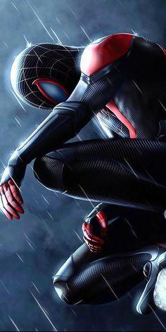 Black Spiderman, Amazing Spiderman, Spiderman Marvel, Noir Spiderman, Spiderman Drawing, Hero Marvel, Marvel Art, Deadpool Wallpaper, Avengers Wallpaper
