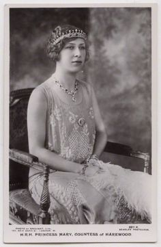 Princess Mary, Countess of Harewood, daughter of George V By Speaight Ltd, published by J. Beagles & Co Vintage postcard print, 1922-1929