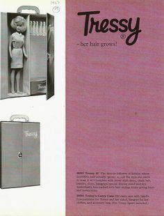 A Tressy carry case was available in 1967. From the Trade Brochure.