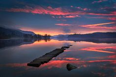 Loch Ard Sunrise by ajnabeee, via Flickr