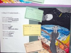The Scream 3 - another self assessment question...Artsonia Art Museum :: Artwork by Student2524