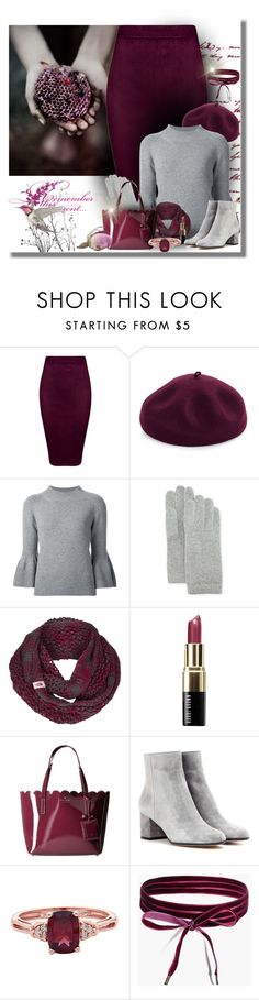"""Grey & Plum"" by majezy ❤ liked on Polyvore featuring Kathy Jeanne, Carolina Herrera, Portolano, The North Face, Bobbi Brown Cosmetics, Kate Spade, Gianvito Rossi and Boohoo"