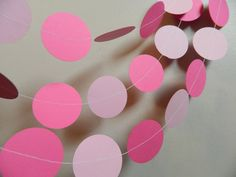 Paper Garland 10ft Shades of Pink Shower Decor Princess Party Decor...Pink and orange...yes please!