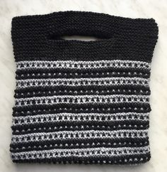 Tinas kreative Seite - Buttonhole Bag - selbstgestrickte Tasche